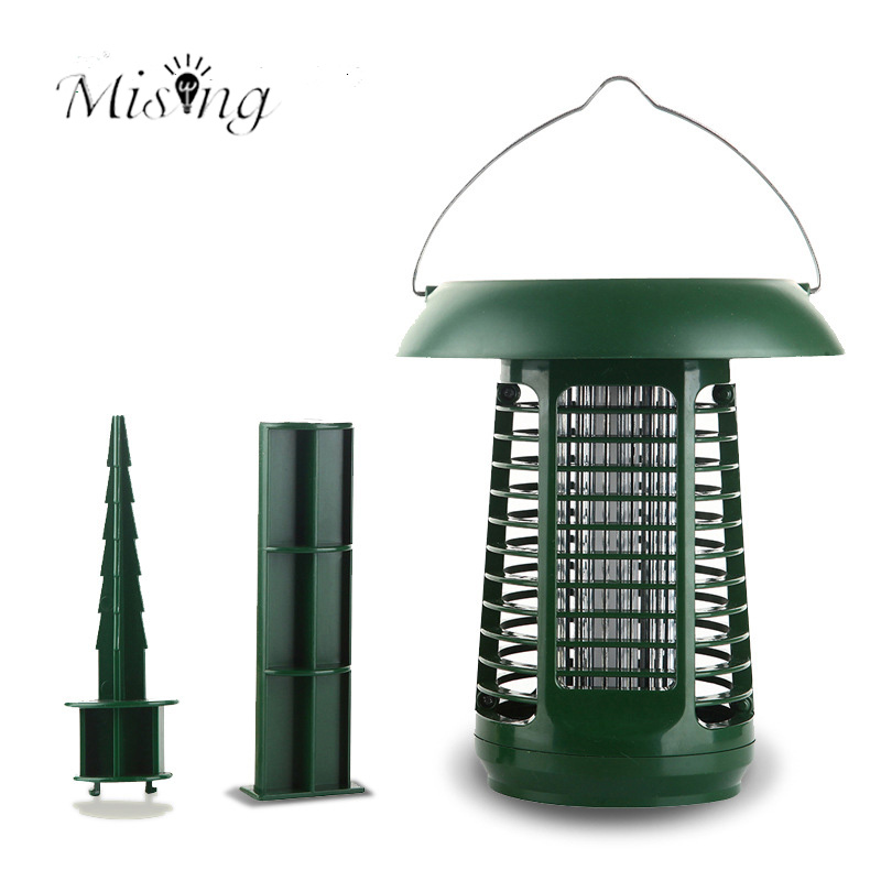 Mising AG001 2 In 1 LED 1.2V Garden Mosquito Killer Lamp Solar Panel Power Outdoor Photocatalyst LED Path Light for Camping