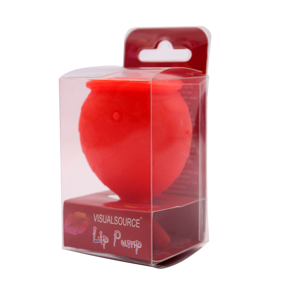 1pc Women Fish Shape Red Color Silicone Sexy Full Lip Plumper Lip Enhancer Increase Lips Lip Plump Beauty Makeup Tool