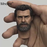 Wolverine3 Head Carving 1/6 Scale Male Soldier Head Sculpt Rogan Model for Superhero Action Figure Toys Collection Mnotht