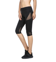 Rylanguage Casual  Patchwork Leggings Women Fitness  Through Leggings Spliced Workout Pants New Arrival Mesh Insert Leggings