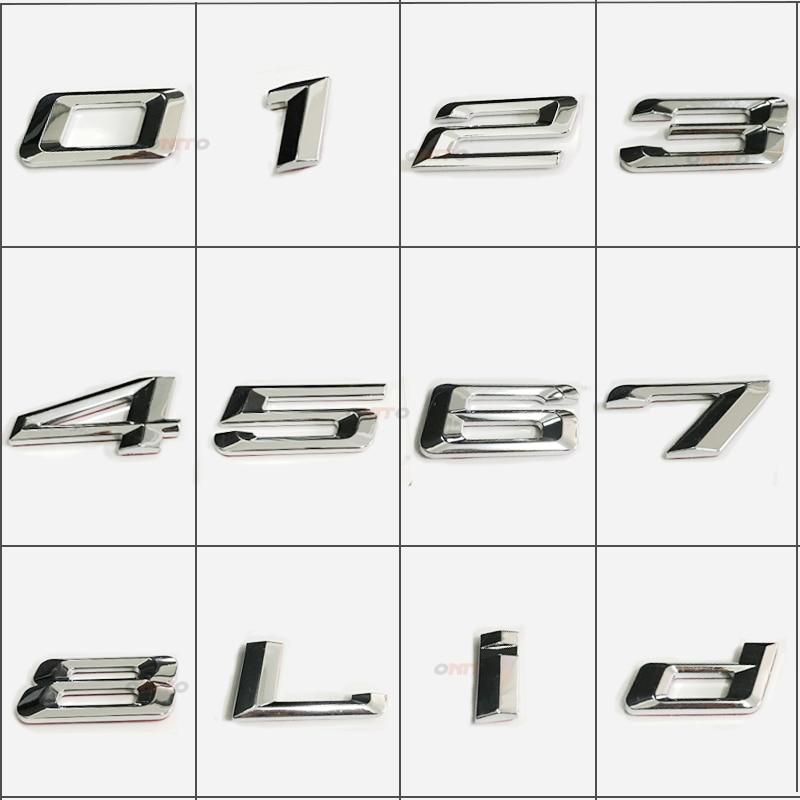 Установка Chrome сзади загрузки багажник автомобиля эмблема, надпись Значки Стикеры для BMW арабскими цифрами наклейки значок сделай сам, для д...