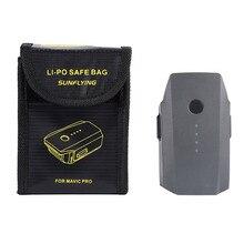 Lipo батарея Взрывозащищенная безопасная сумка для DJI Mavic Pro батарея пожаробезопасный чехол волокно коробка для хранения протектор