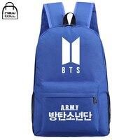NEWTALL 2017 Kpop BTS Bangtan Boys New Logo Door ARMY Letter Backpack Student Schoolbag Shoulder