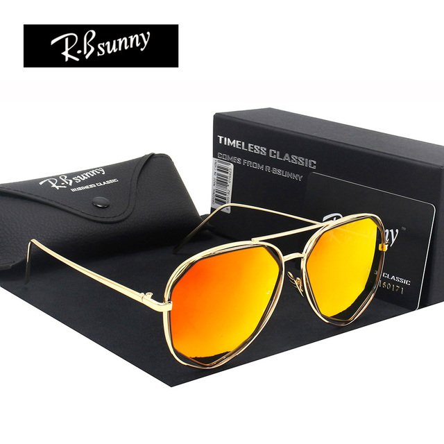 HD Polygon color film women sunglasses Fashion brand polarized glasses Polaroid lens classic Retro metal frame sunglasses UV400