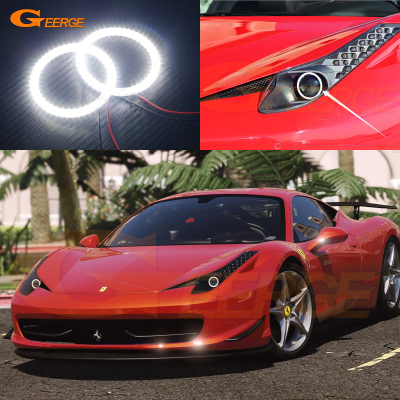 For Ferrari 458 2010 2011 2012 2013 2014 2015 Excellent Angel Eyes Ultra bright illumination smd led Angel Eyes Halo Ring kit for lifan 620 solano 2008 2009 2010 2012 2013 2014 excellent ultra bright illumination smd led angel eyes halo ring kit