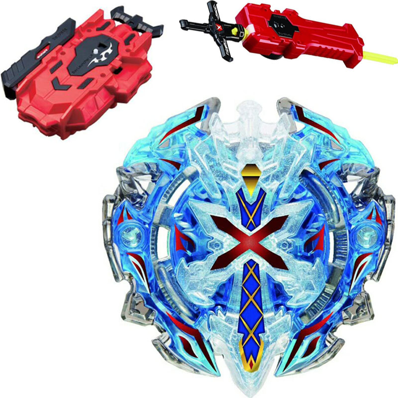 B-67 BLUE Xeno Xcalibur / Xcalius / Excalibur DOWN ORBIT Burst BOOSTER Spinning Top + LR RED Launcher and Sword Launcher(China)