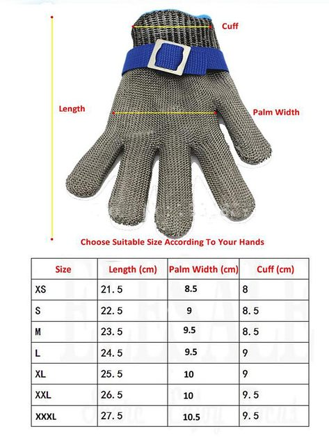 Resistant Anti-cutting Stainless Steel Gloves Reliable Protection