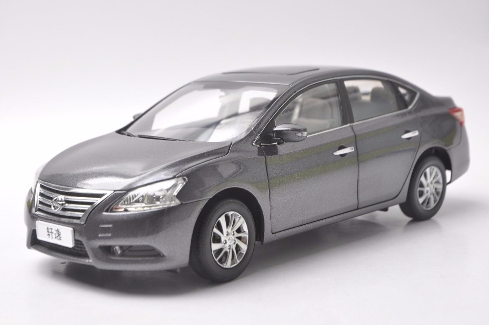 1:18 Diecast Model for Nissan Sylphy Gray Alloy Toy Car Miniature Collection Gifts Sentra autoart 1 18 nissan alto skyline nismo s1 alloy model car page 5