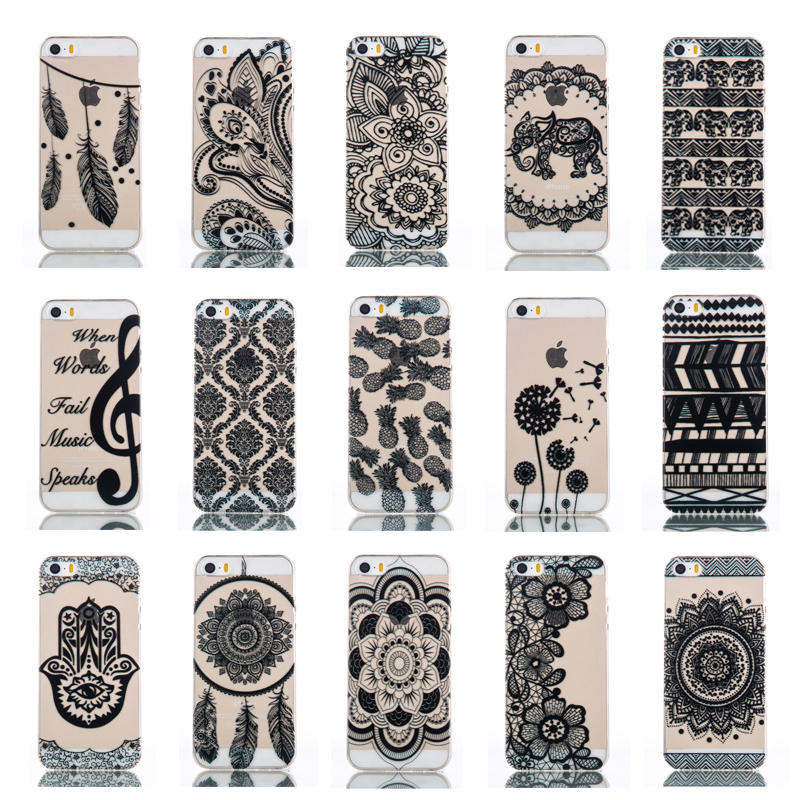 Silicone Case for Apple iPhone 5 5S 5SE Soft Shell Back Cover For iPone 5s 5 Case Painted Cover Accessories Case for ihone 5s