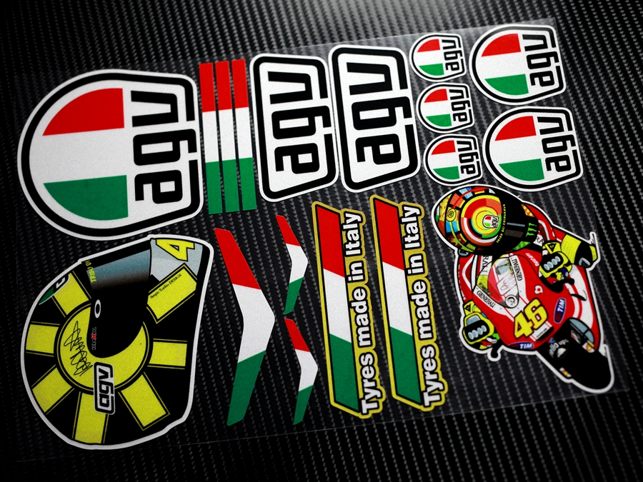 Free shippingMOTO GP 46# Rossi Valentino Motocross Sticers&Decals  Reflective Motorcycle Car Stickers Bike windshield Helmet ATV-in Car  Stickers from ...
