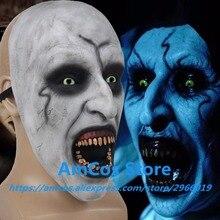 Купить с кэшбэком 2018 The Nun Horror Mask Cosplay Valak Scary Half Face Latex Masks Helmet Halloween Party Props DropShipping