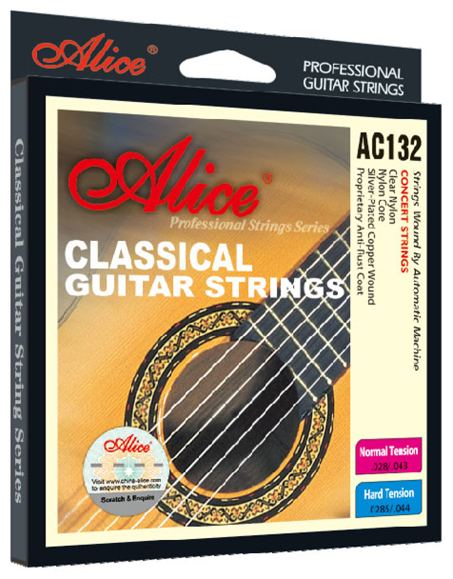 Guitar Strings 6 pcs/set Clear Nylon Silver-plated Copper Wound Alice AC132