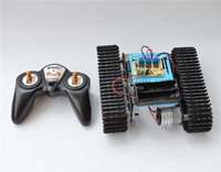 2.4G remote control aluminum alloy tank robot 18650 30 meters