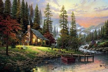 Frameless diy pictures by numbers paint by number for home decor picture oil painting for living room 4050 mountain stream