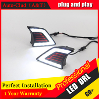 Auto Clud car styling For Toyota HILUX LED DRL For HILUX High brightness guide LED DRL led fog lamps daytime running light Black