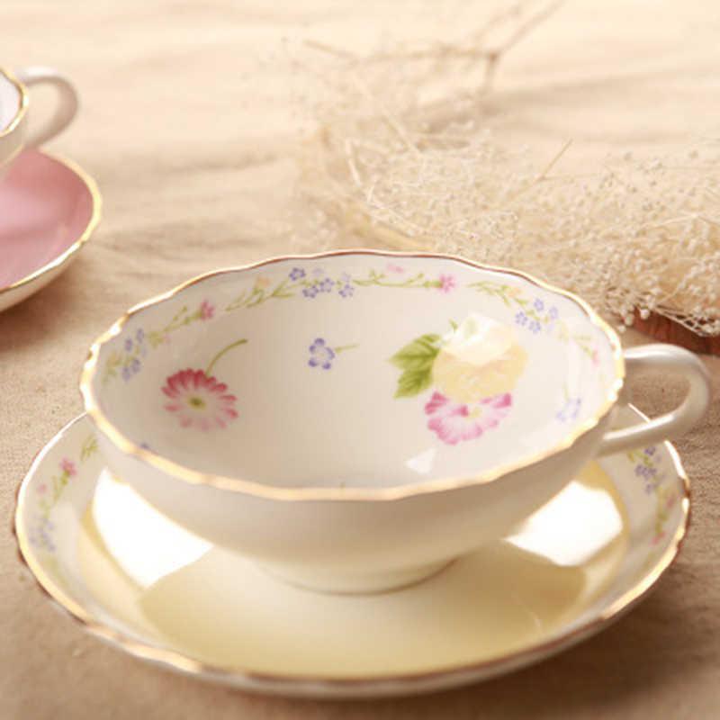الأوروبي العظام الصين طقم فناجين قهوة الفاكهة نمط عالية الجودة كوب سيراميك لاتيه عشاق 101-200 مللي القهوة أ