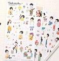 6 blätter/set Lustige Korea Süße mädchen serie PVC aufkleber set Dekoration label Telefon aufkleber