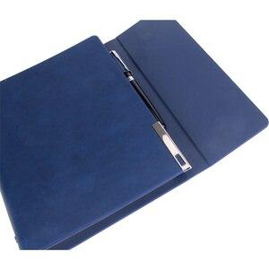 Image 2 - Pu Lederen Losbladige Notebook Journal Ringband Kalender Agenda Clip Planner Custom Logo Metalen Gesp Magneet Dagboek