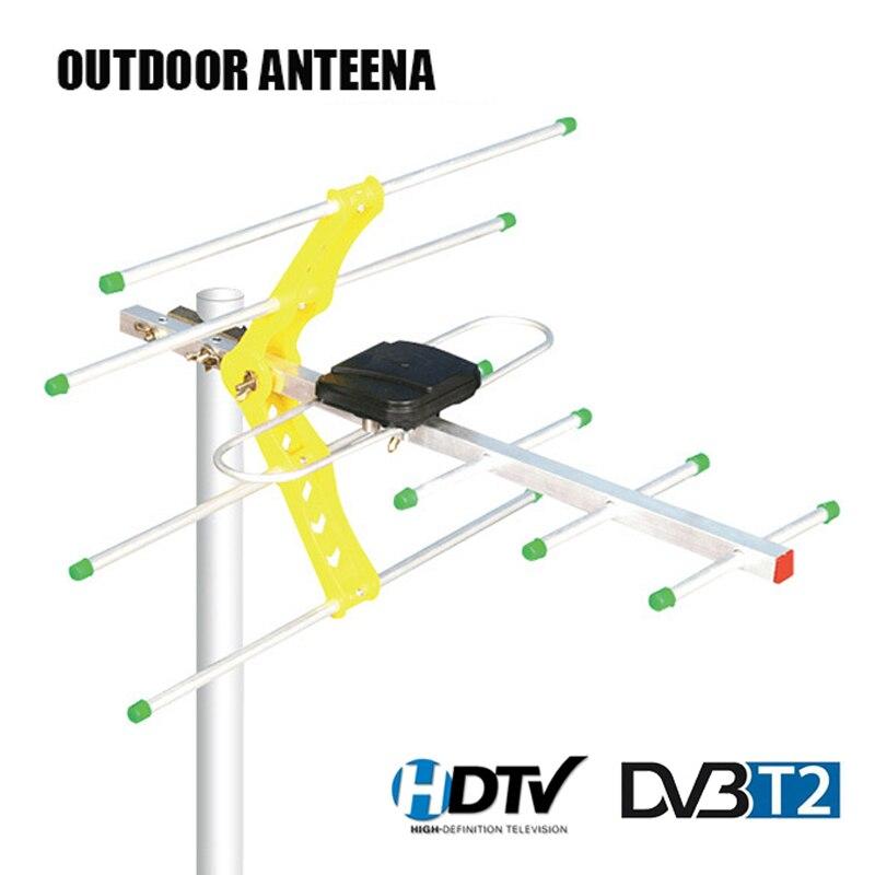 HD DVB-T2 antenne de télévision numérique antenne de télévision extérieure pour boîte de télévision numérique DVBT2 HDTV ISDB-T ATSC Signal fort élevé 10M câble Coaxial