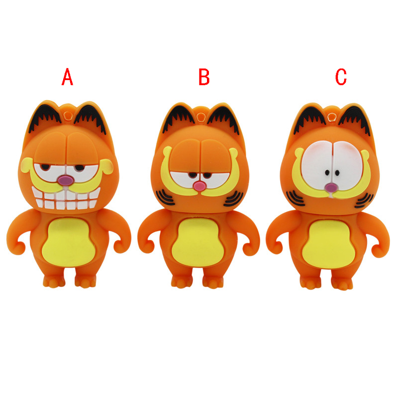 BiNFUL 3 Tyle Cute Cartoon Garfield Model Usb2.0 Pendrive 4GB 8GB 16GB 32GB 64GB Usb Flash Drive U Disk