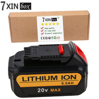 20V 6 0Ah Lithium Ion Tool Replacement Battery For DEWALT DCB180 DCB181 DCB181 XJ DCB200 DCB201