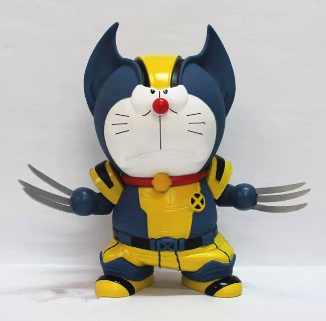 Wolverine 1pcs/set pvc figures marvel x man doraemon cute mini toys q...