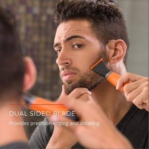 Image 2 - Recortador de barba de una hoja para hombre, cabezal de aseo corporal, recortador de barba eléctrico, herramienta para dar forma a la cara, corte de Máquina para cortar cabello
