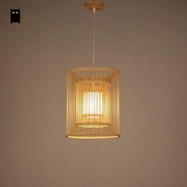 Aliexpress.com : Buy Bamboo Wicker Rattan Lantern Shade Pendant ...