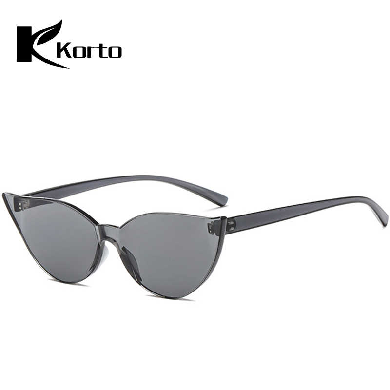 56bc9288ab ... Colored Lenses Cat Eye Sunglasses Women Rave Festival Party Eyewear  Ladies Rimless Sun Glasses Men Cateye ...