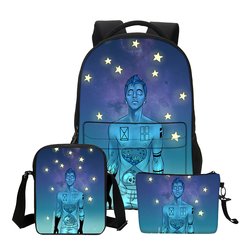 a2f622ac3913 Hynes Eagle Boys School Backpacks 3 PCS SET Twenty One Pilots Printing  Shoulder Bags For Teenage Girls Cool Cortoon Bookbags-in Backpacks from  Luggage ...