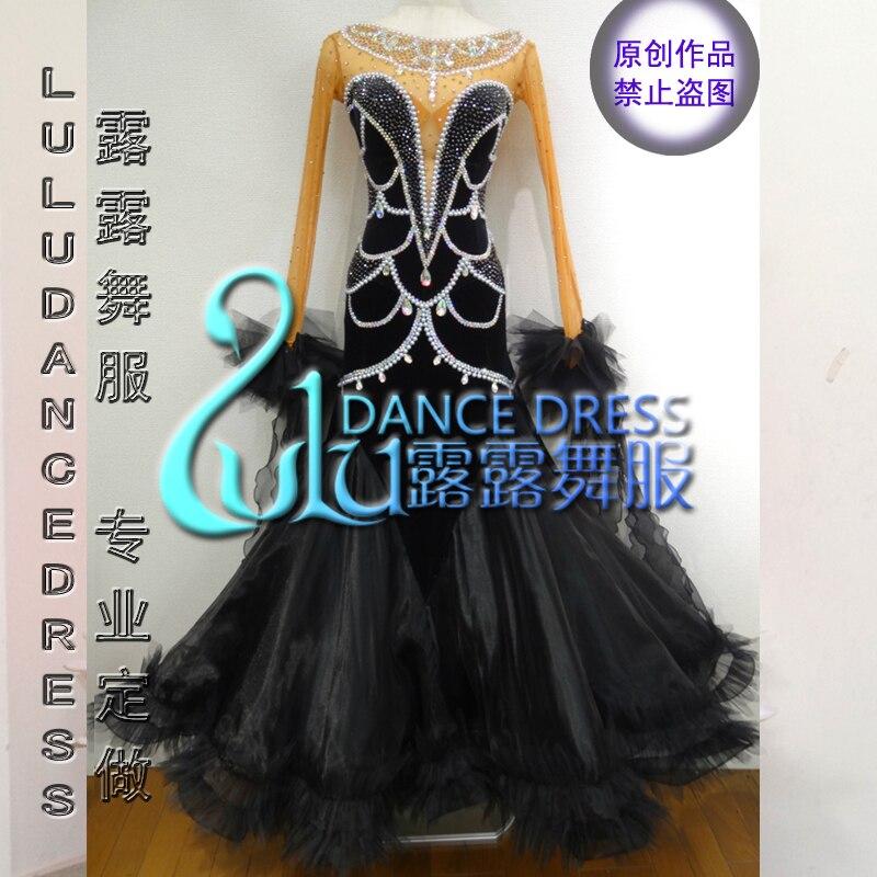 2016 Ballroom Dancing Dress Newest Design Woman Modern Waltz Tango Dance Dress/standard Ballroom Competition Costume
