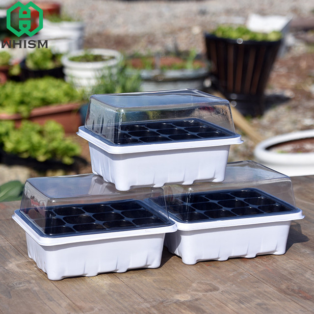 Whism Plastic Flower Pots Plant Seedling Tray Succulent Pot Garden Nursery Kit Insert