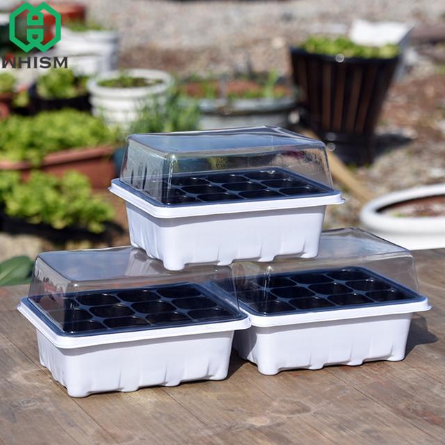 WHISM Plastic Flower Pots Plant Seedling Tray Succulent flower Pot Garden Nursery flower Pot Kit Insert Propagation Seeding Case