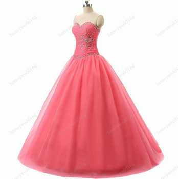 In Stock New Beaded Sweetheart Flowing Skirt Sage Cheap Tulle Quinceanera Dresses Ball Gown Prom Dresses 2-4-6-8-10-12-14-16 - DISCOUNT ITEM  0% OFF All Category