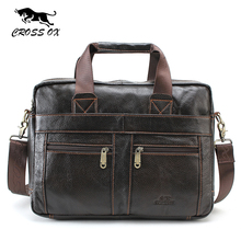KREUZ OX Echtem Leder Aktentasche Für Mann Taschen Geschäfts Laptop Tote herren Umhängetasche Umhängetasche Reisetaschen herren-taschen HB373M
