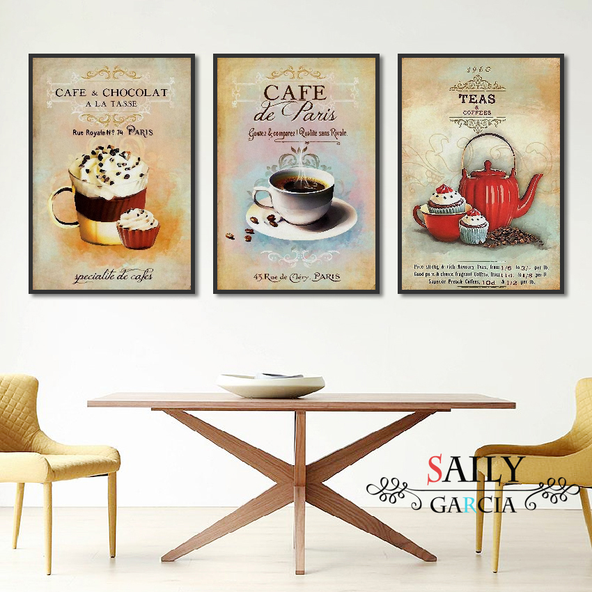 Canvas Painting Wall-Pictures Nordic-Poster No-Frame Abstract Coffee Home-Decoration
