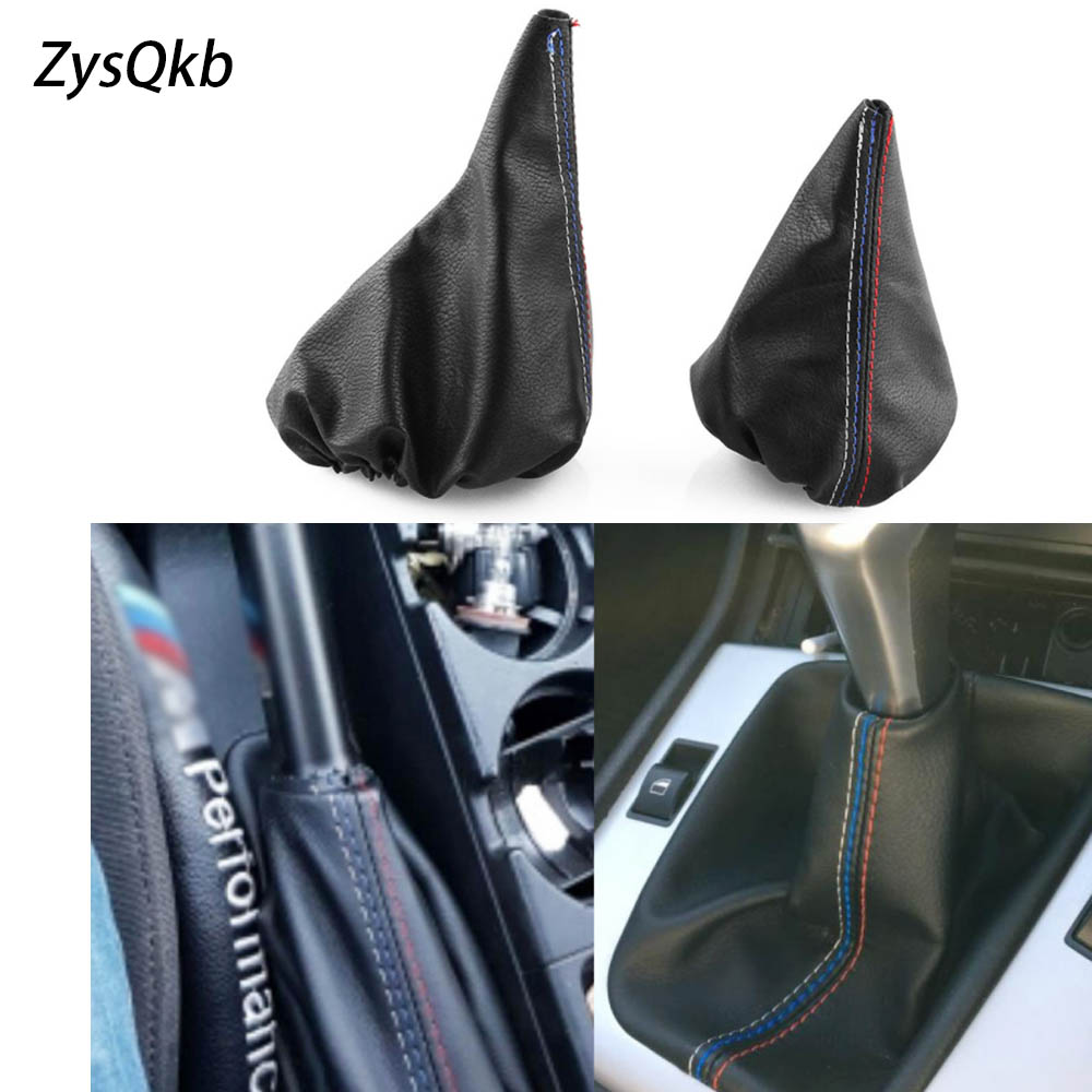 Car Shift Gear Stick Manual Handbrake Gaiter Shift Boot Black Leather Boot Car Styling For BMW 3 Series E36 E46 M3-in Gears from Automobiles & Motorcycles
