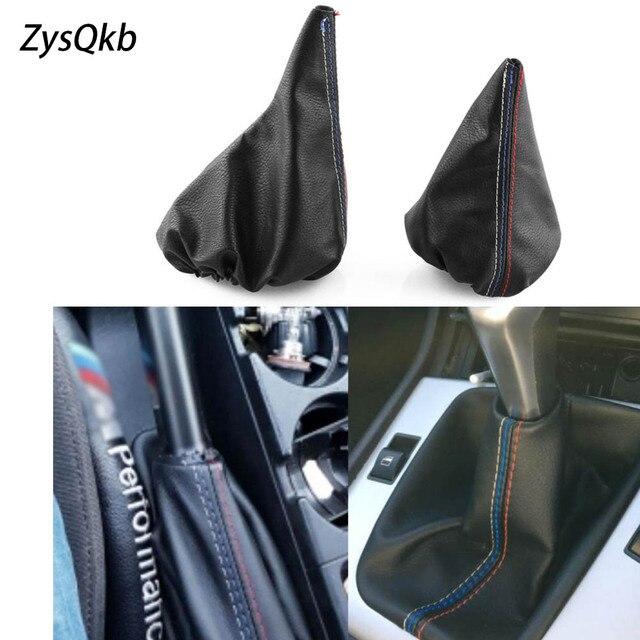 Car Shift Gear Stick Manual Handbrake Gaiter Shift Boot Black Leather Boot Car Styling For BMW 3 Series E36 E46 M3