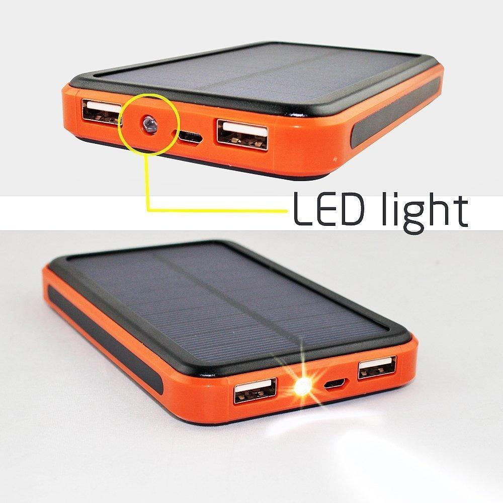 GTF New Solar Mobile Power Solar Charging Po 15000mAh Dual USB Solar Charging Po