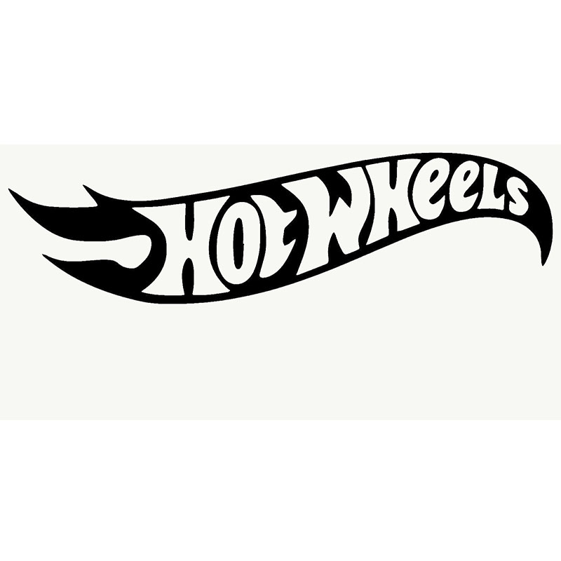 HotMeiNi Hot Wheels Adhesive Funny Car Sticker For Truck Window Bumper Auto SUV Door Laptop Kayak Vinyl Decal 9 Colors