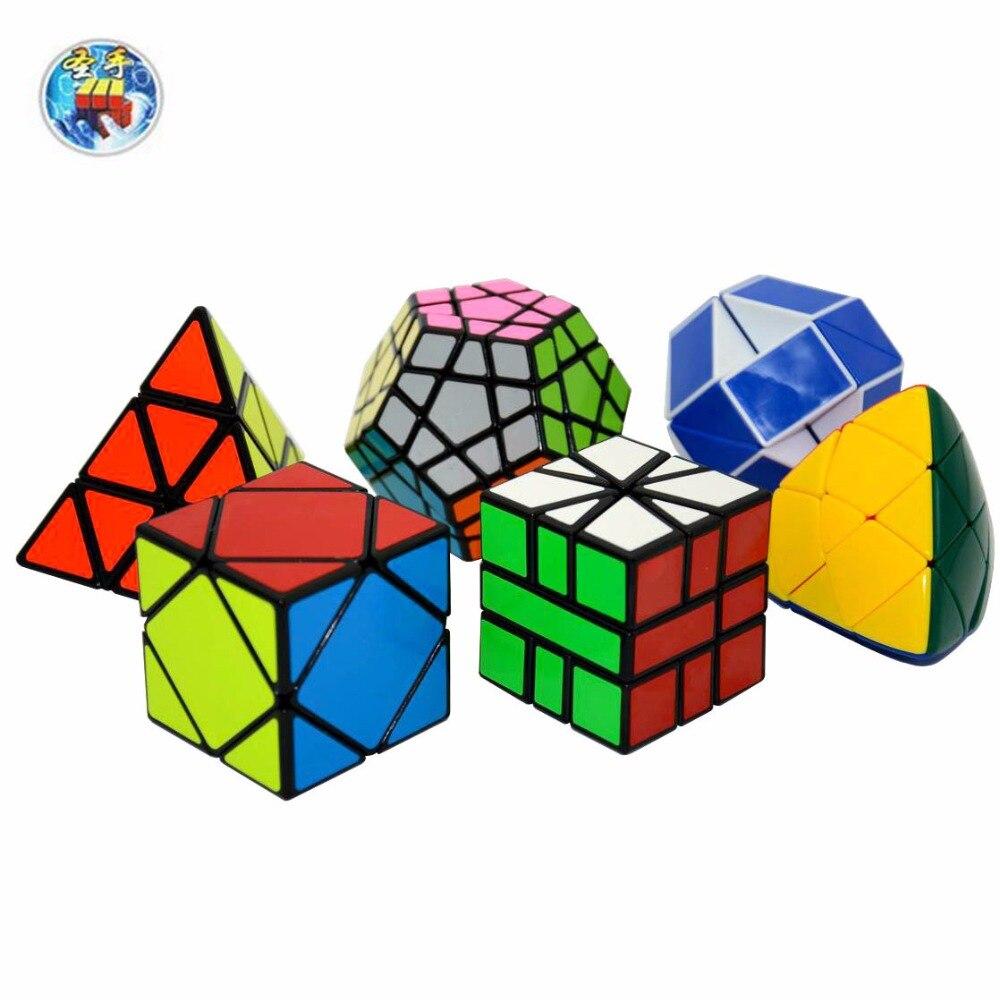 6pcs Shengshou Cubes(Gifts Packed) A Includ(3x3 Pyraminx,3x3Megaminx,Snake,SQ-1,Masterphorminx, Skewb)Magic Cube And Package B 8pcs set shengshou s magic cubes 3 3 2 2 2x2 3x3 skew sq1 megaminx mastermorphix triangle pyraminx mirror rubix rubic cube