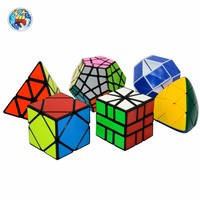 Shengshou Cubes Gifts Packed 1PCS 3x3 Pyraminx 1PCS 3x3 Megaminx 1PCS Snake 1PCS SQ 1 1PCS