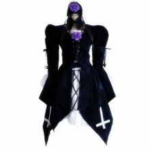 Anime Rozen Maiden Suigintou Uniform Suits Girl Cosplay Costume Halloween suits Lolita skirt High Quality цена 2017