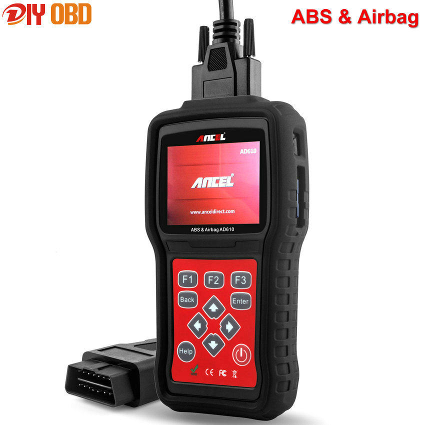 Prix pour 2017 ABS Airbag SRS Réinitialiser OBD2 Code Scanner De Diagnostic Scan outil Ancel AD610 avec Espagnol OBD II Diagnostic Scanner Code lecteur