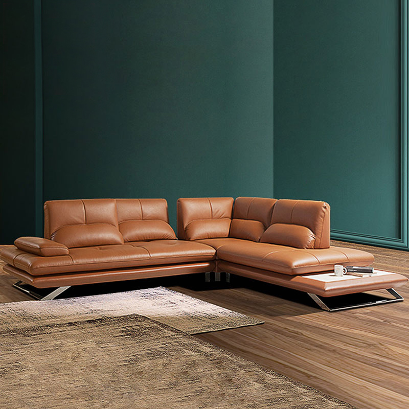 Real Genuine Leather Sectional Sofa