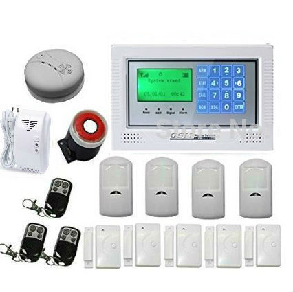 Russian/Spanish/French /Italian/Czech/Portuguese Touch keypad Color Display GSM Home Security Alarm System Kit with Auto Dial