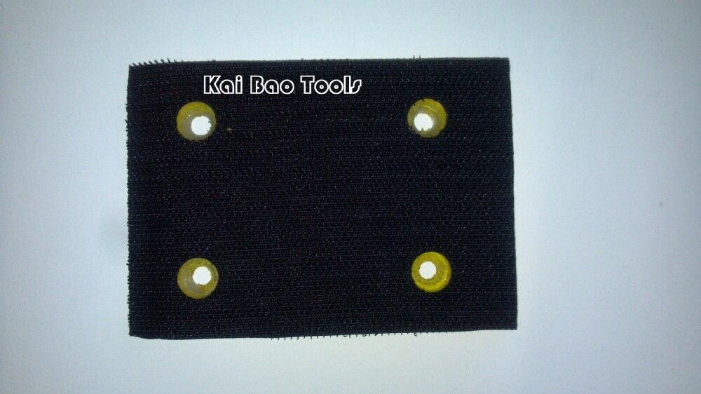 70x100 мм квадратная шлифовальная подушка прямоугольная подложка абразивная прокладка крюк и петля/винил для квадратной шлифовальной машины воздуха/полировщик