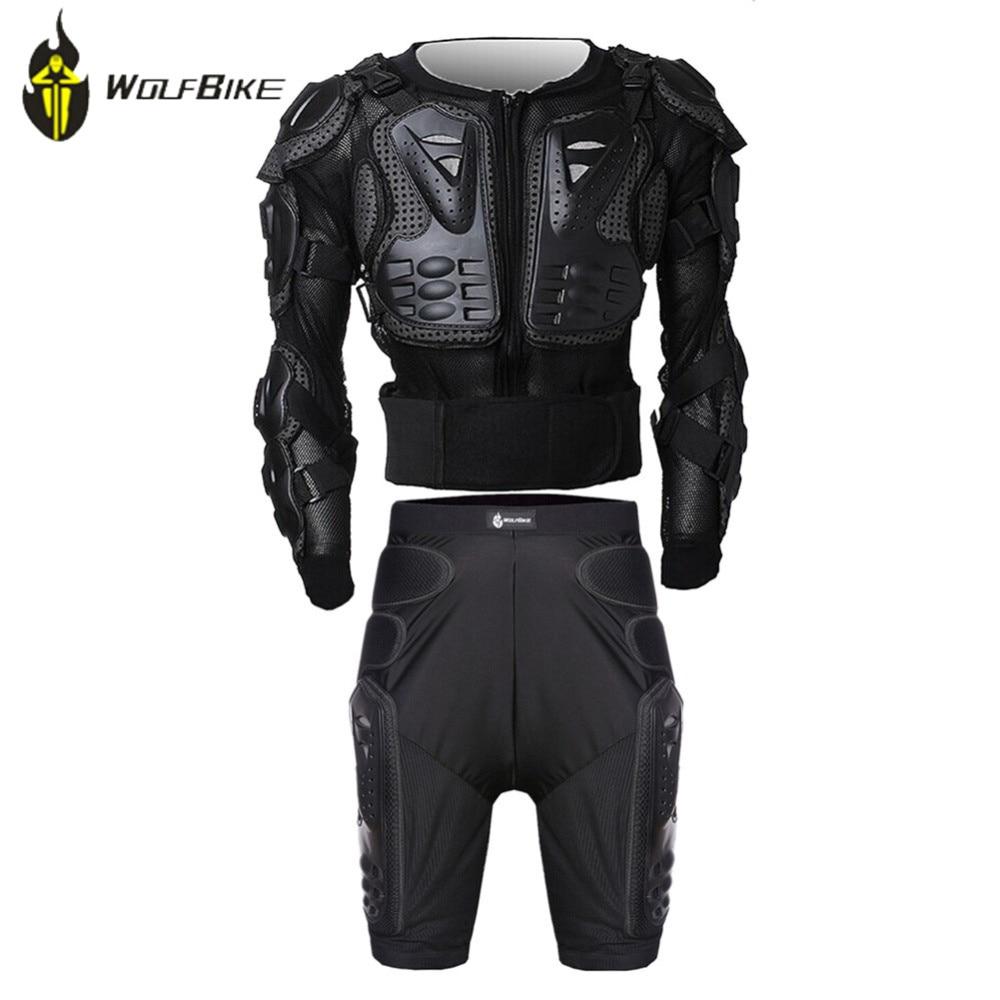 LOUP VÉLO Protectie Engrenages Veste + Pantalon Armure Vêtements Ensemble VTT Vélo Jambe Genouillères Résistance Racing Motocross Armure Genou soutien