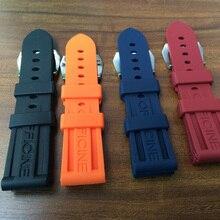 NOUVEAU 24mm Étanche Bracelet En Caoutchouc de Silicone Pour PAM, avec Mon Pote Boucle Avec Logo Original, Shiping Libre