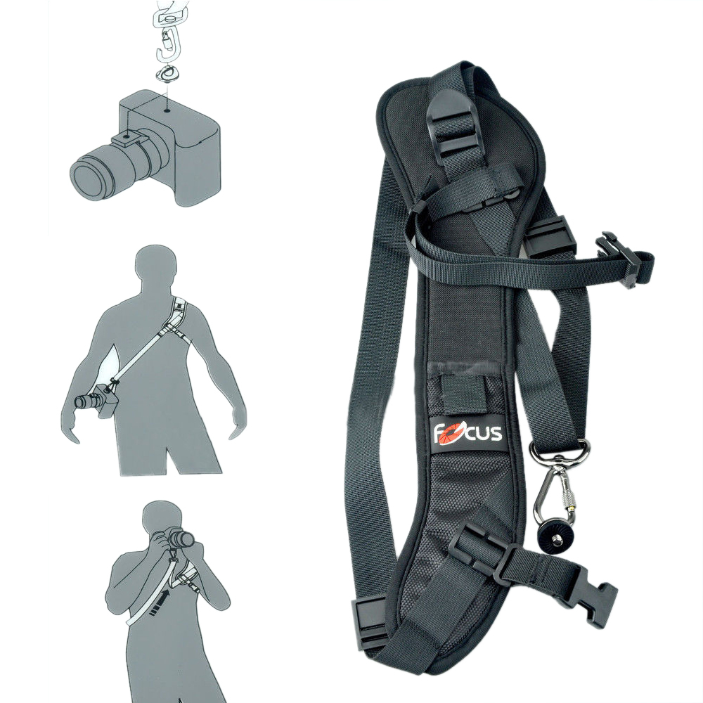 Focus F-1 Quick Rapid Carry Speed Soft Pro Shoulder Sling Belt Neck Strap For Camera SLR DSLR Black + Free Shipping ...